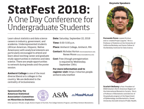 StatFest 2018 Flyer